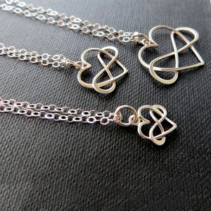 Generations infinity heart necklace set - RayK designs