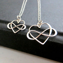 Load image into Gallery viewer, Generations infinity heart necklace set - RayK designs