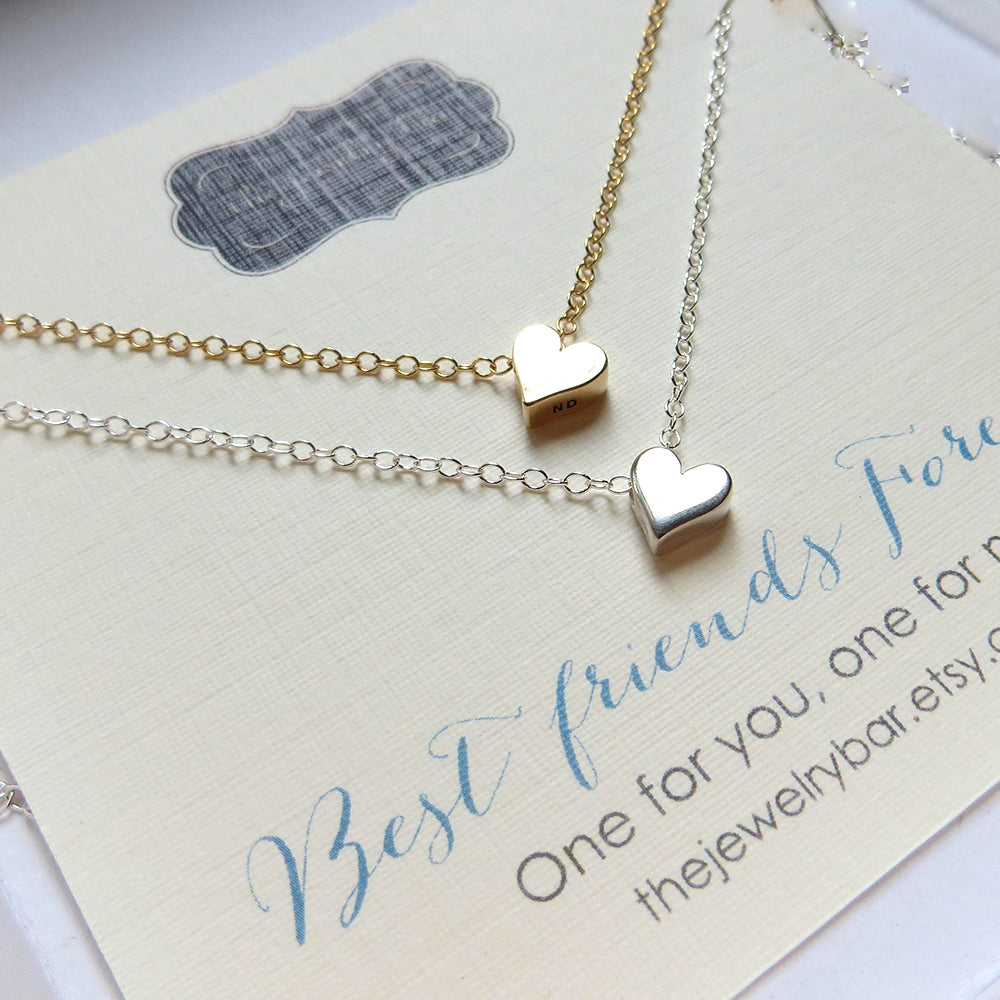 best friend small heart necklace set of 2 - RayK designs