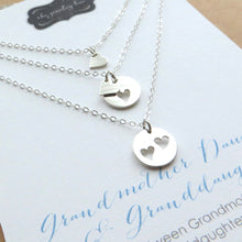 Load image into Gallery viewer, Grandmother mother daughter necklace set of 3 - RayK designs