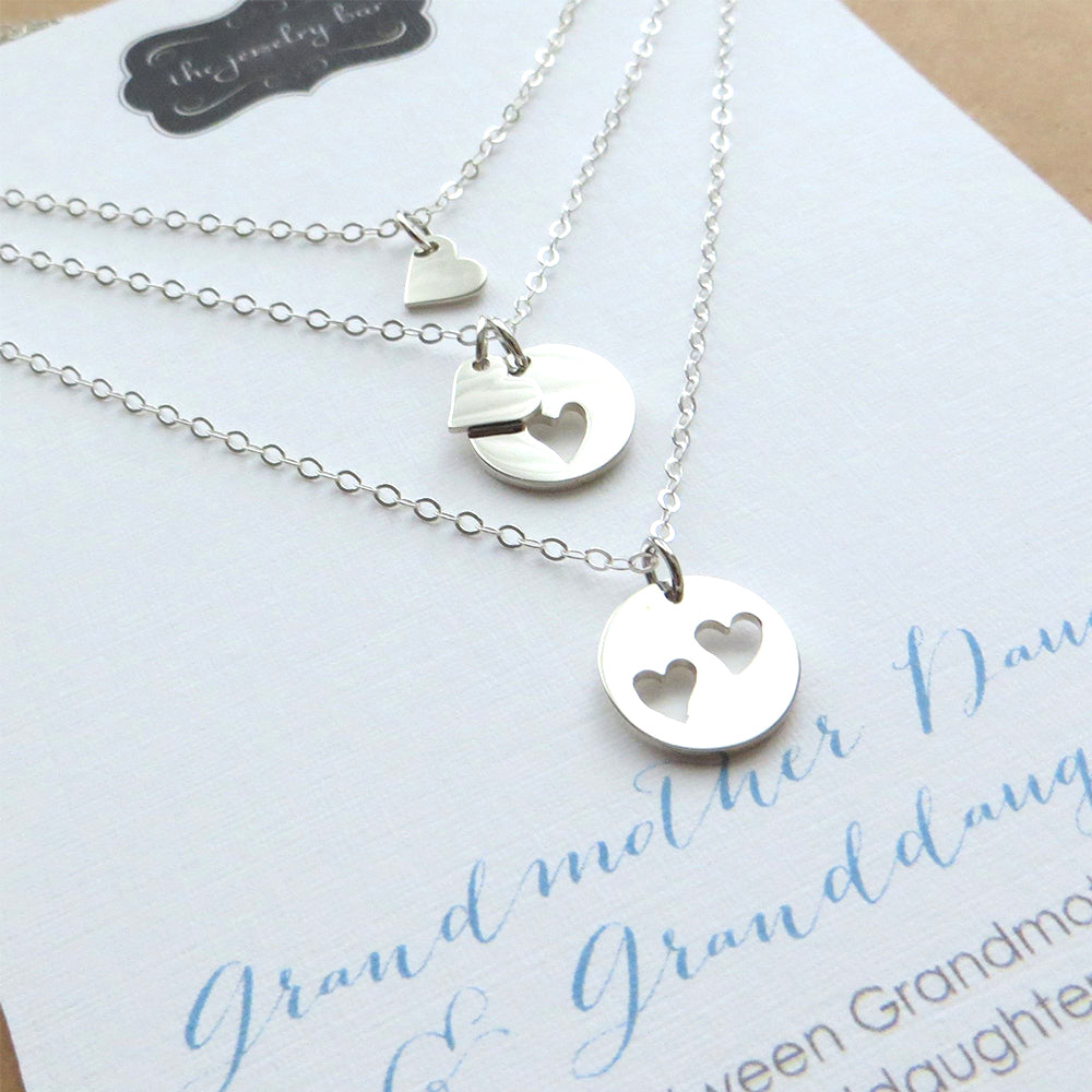 Grandmother mother daughter necklace set of 3 - RayK designs