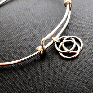 Infinite circle bangle bracelet - RayK designs