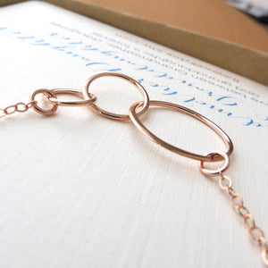 Rose gold three generations necklace - RayK designs