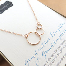 Load image into Gallery viewer, Rose gold three generations necklace - RayK designs