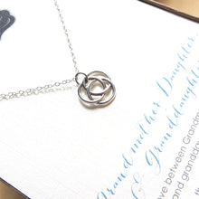 Load image into Gallery viewer, Infinite circle love knot necklace - RayK designs