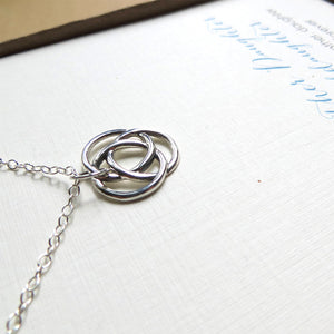 Infinite circle love knot necklace - RayK designs