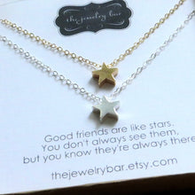 Load image into Gallery viewer, best friend star necklace set of 2 - RayK designs
