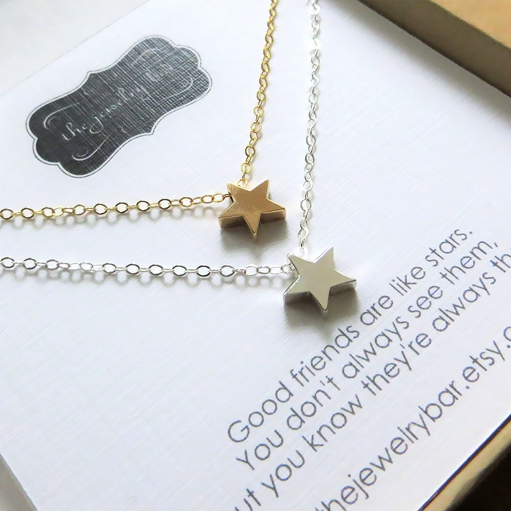 best friend star necklace set of 2 - RayK designs