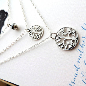 Generations jewelry, tree of life necklace & acorn set for grandmother, daughter and granddaughter - RayK designs