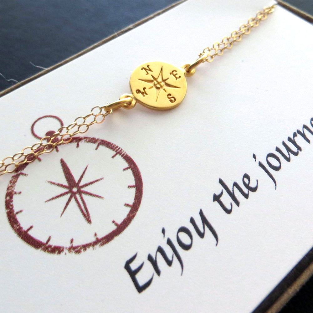Gold Compass bracelet - RayK designs