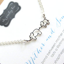 Load image into Gallery viewer, Mother son jewelry, mama and baby elephant necklace - RayK designs