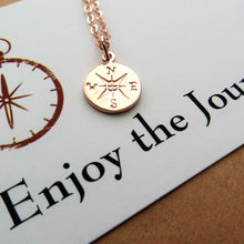 Load image into Gallery viewer, Rose gold compass necklace - RayK designs
