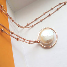 Load image into Gallery viewer, Mother of the bride eternity pearl necklace - RayK designs