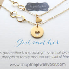 Load image into Gallery viewer, Godmother gift,  Godmother goddaughter infinity necklace - RayK designs