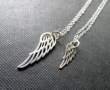 Load image into Gallery viewer, Grandmother granddaughter angel wing necklace set - RayK designs