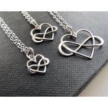 Load image into Gallery viewer, Grandmother granddaughter infinity heart necklace set - RayK designs