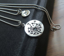 Load image into Gallery viewer, mother daughter dandelion charm necklace with ball chain - RayK designs