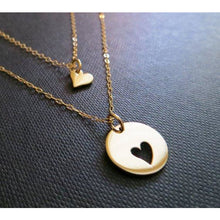 Load image into Gallery viewer, Mother daughter heart necklace set - RayK designs