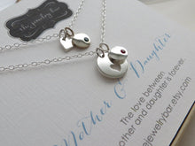 Load image into Gallery viewer, Mother daughter birthstone disk necklace set - RayK designs