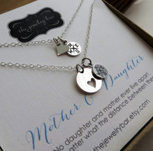 Load image into Gallery viewer, mother daughter compass heart necklace set (sm) - RayK designs