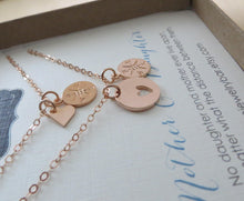 Load image into Gallery viewer, Mother daughter compass heart necklace set - RayK designs