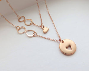 Godmother gift,  Godmother goddaughter infinity necklace - RayK designs