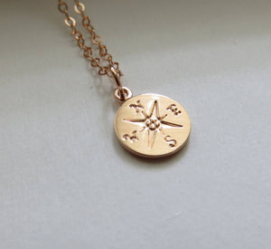 Rose gold compass necklace - RayK designs