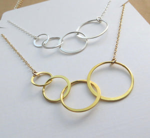 4 rings for 4 decades necklace - RayK designs
