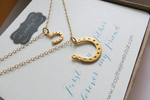 Horseshoe necklaces, you are my lucky charm - RayK designs