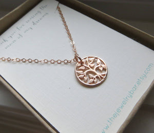 Mom gifts, rose gold tree of life necklace, pearl charm, mother of the bride, mother of the groom, grandma, godmother jewelry - RayK designs