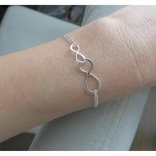 Load image into Gallery viewer, Rose gold small and big infinity bracelet