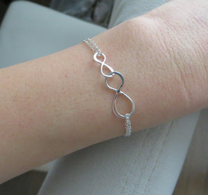 Mother son linked infinity bracelet - RayK designs