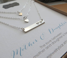 Load image into Gallery viewer, Mother two daughters bar necklace - RayK designs