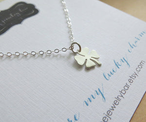 Lucky charmcc necklace, Shamrock, four leaf clover, best wishes gift, good luck gift for friends, co worker gift, you are my lucky charm - RayK designs