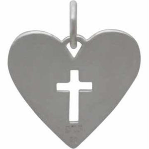 Godmother heart cross necklace - RayK designs