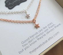 Load image into Gallery viewer, set of 2 tiny star bracelet for best friends