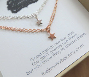 set of 2 tiny star bracelet for best friends - RayK designs