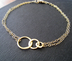 Three sister eternity bracelet