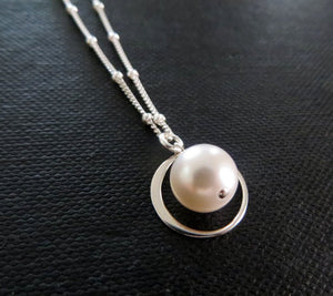 Stepmother eternity pearl necklace - RayK designs