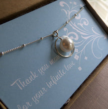 Load image into Gallery viewer, Mother Swarovski pearl eternity necklace - RayK designs