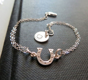Personalized best friends Horseshoe initial bracelet - RayK designs