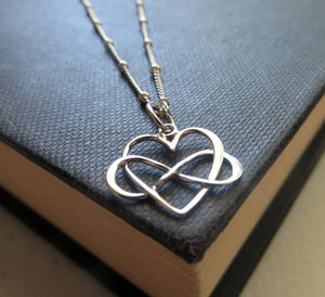 Daughter entwined infinity heart necklace - RayK designs