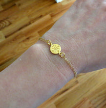 Load image into Gallery viewer, Gold Compass bracelet, graduation gift, enjoy the journey, gift for graduate student, new start, compass charm, friendship, college - RayK designs