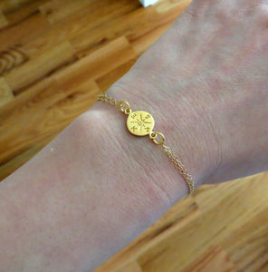 Gold Compass bracelet, graduation gift, enjoy the journey, gift for graduate student, new start, compass charm, friendship, college - RayK designs