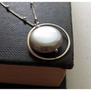 Mother of the bride eternity pearl necklace - RayK designs
