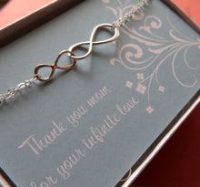 Load image into Gallery viewer, Mother daughter linked infinity bracelet - RayK designs