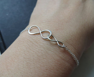 Mother daughter linked infinity bracelet - RayK designs