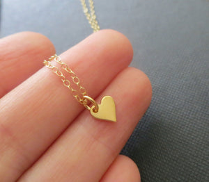 Mother 3 daughter gold heart cutout necklace set - RayK designs