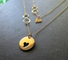 Load image into Gallery viewer, mother daughter gift, mother daughter heart infinity necklace set - RayK designs