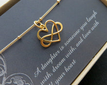 Load image into Gallery viewer, Godmother proposal gift, infinity heart necklace, will you be my godmother, rose gold finish, timeless, godmom gift from godchild - RayK designs